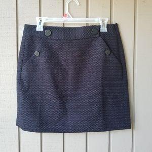 NWT loft button mini skirt